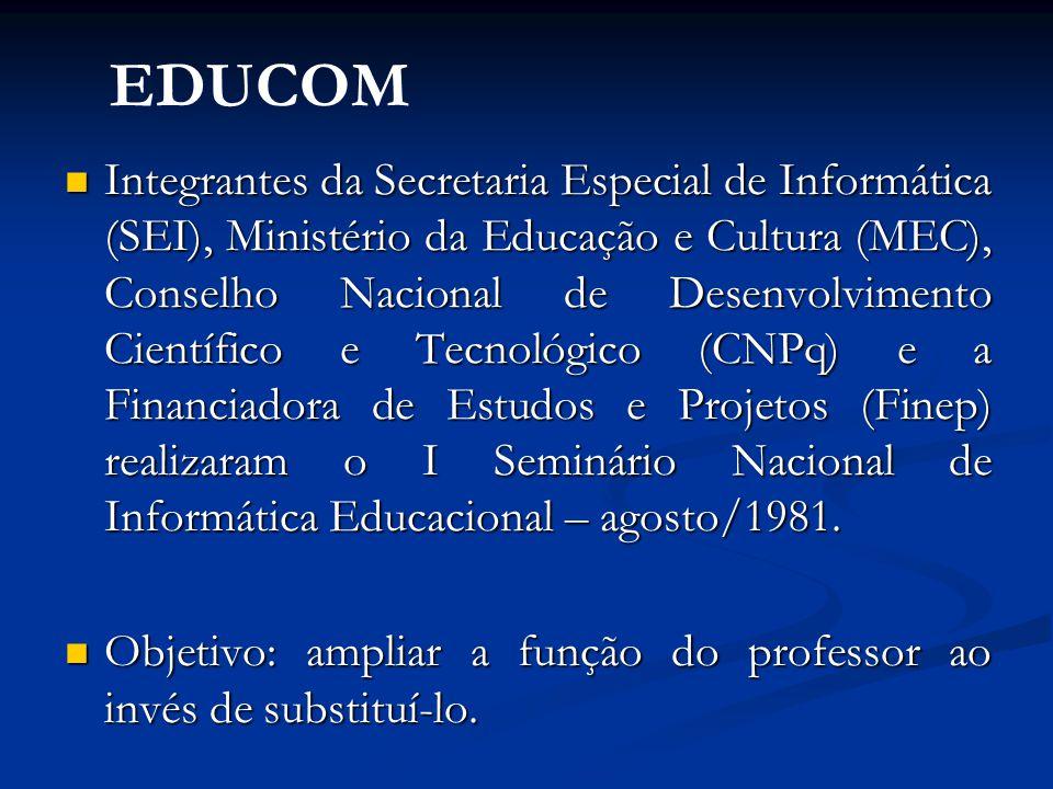 Integrantes da Secretaria Especial de Informática (SEI), Ministério da Educação e Cultura (MEC), Conselho Nacional de Desenvolvimento Científico e Tec