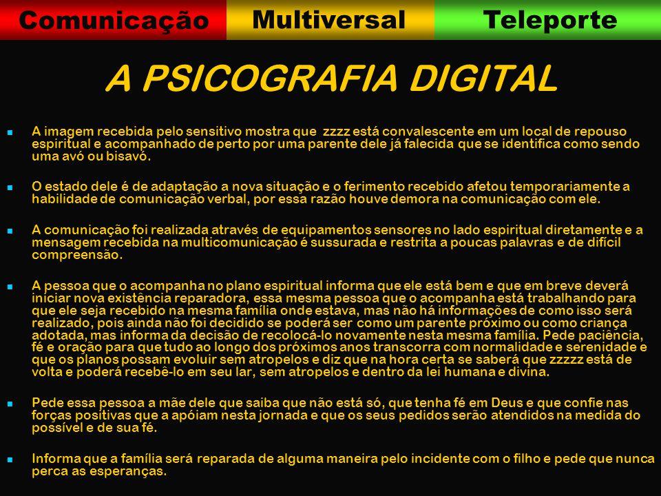 Comunicação MultiversalTeleporte COMO FUNCIONA A PESQUISA 1.