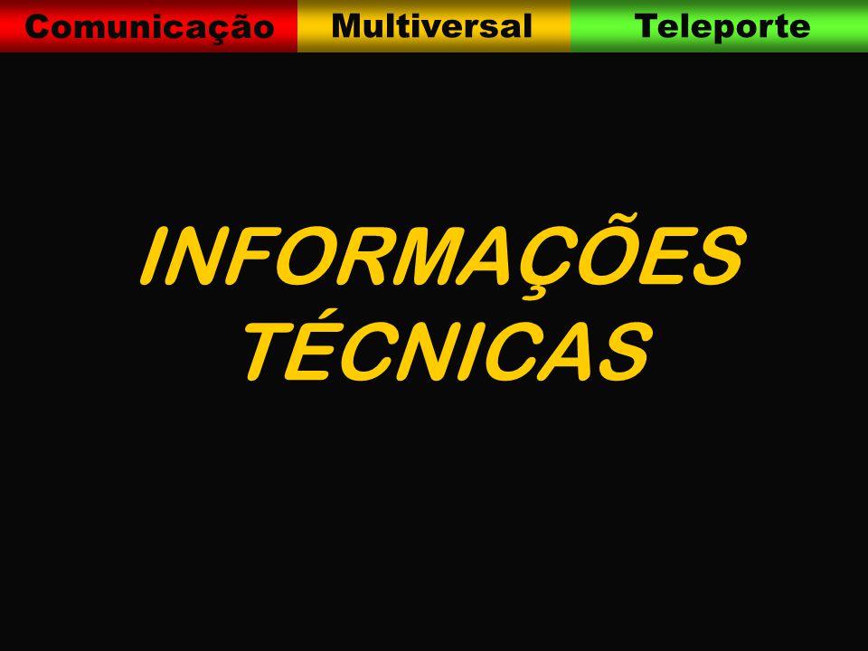 Comunicação MultiversalTeleporte INFORMAÇÕES TÉCNICAS