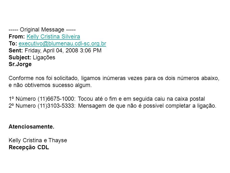 ----- Original Message ----- From: Kelly Cristina SilveiraKelly Cristina Silveira To: executivo@blumenau.cdl-sc.org.brexecutivo@blumenau.cdl-sc.org.br
