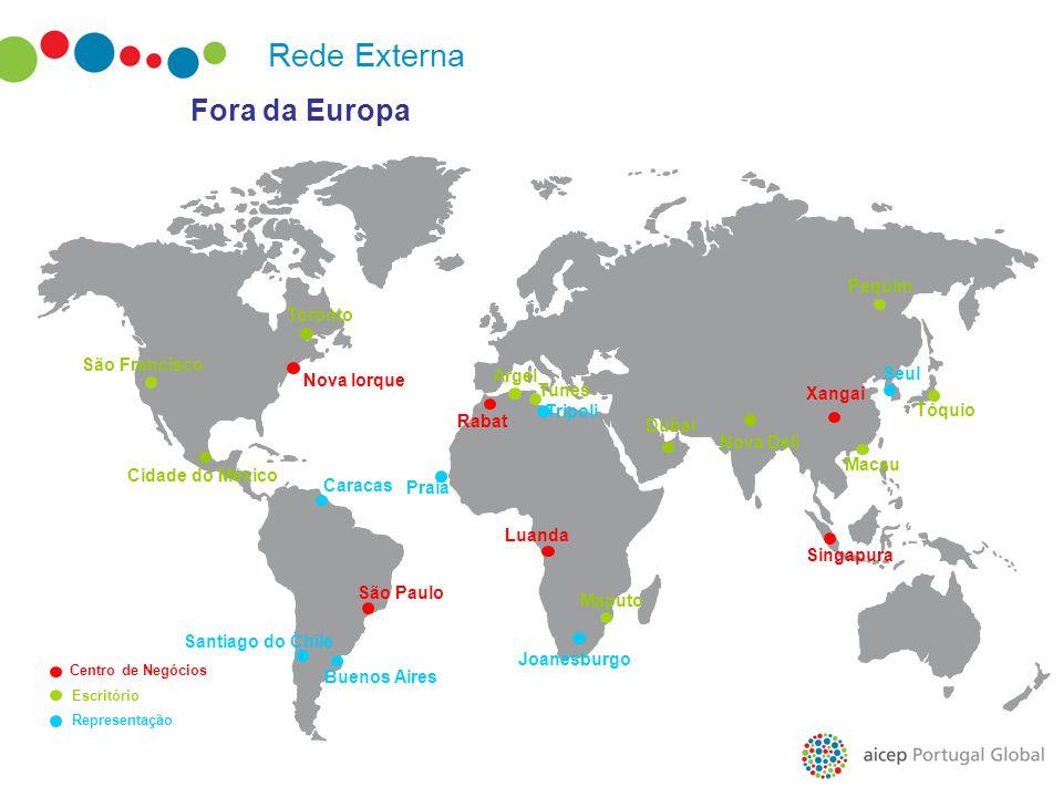 Fora da Europa Macau São Francisco Nova Iorque Toronto Cidade do México São Paulo Luanda Praia Buenos Aires Pequim Tóquio Seul Maputo Joanesburgo Xang