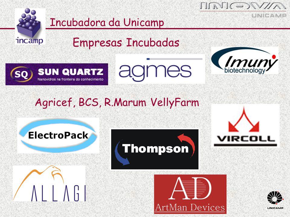 VellyFarm Agricef, BCS, R.Marum Incubadora da Unicamp Empresas Incubadas