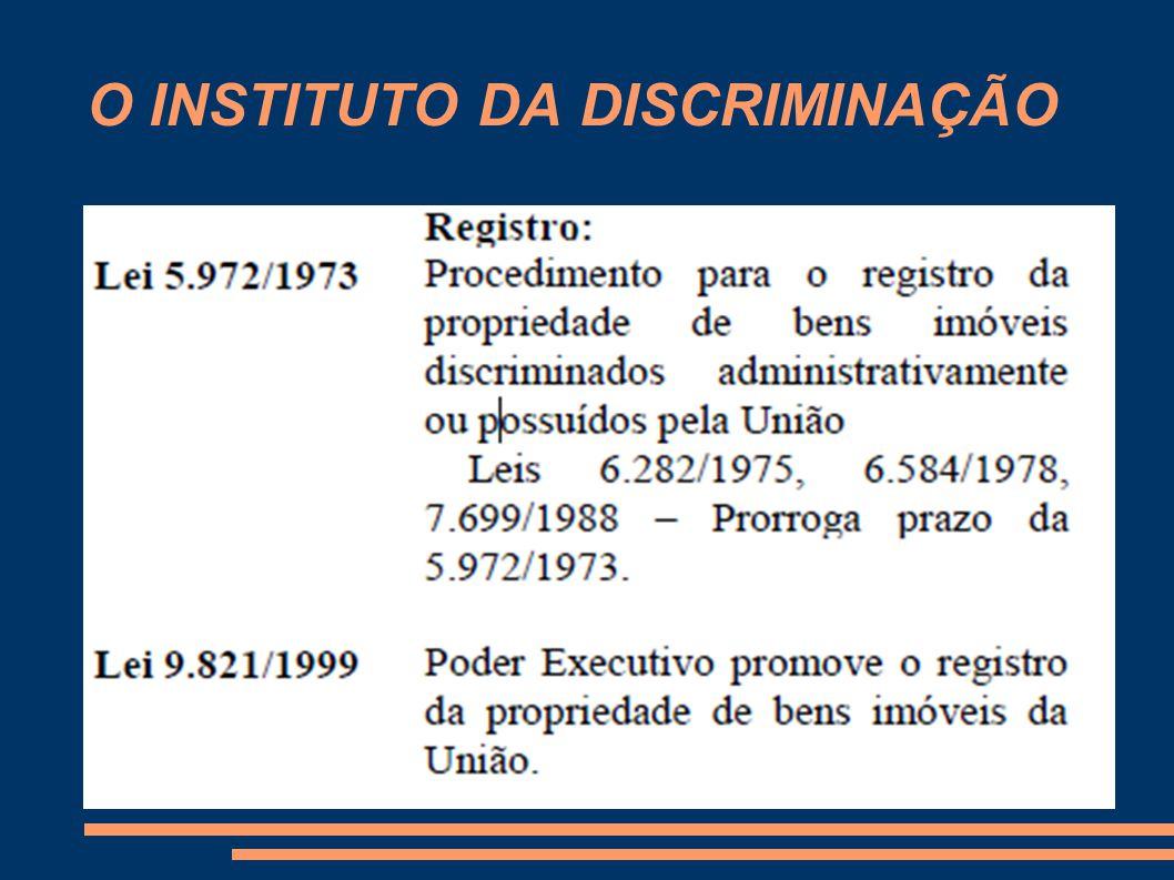 O INSTITUTO DA DISCRIMINAÇÃO 8.