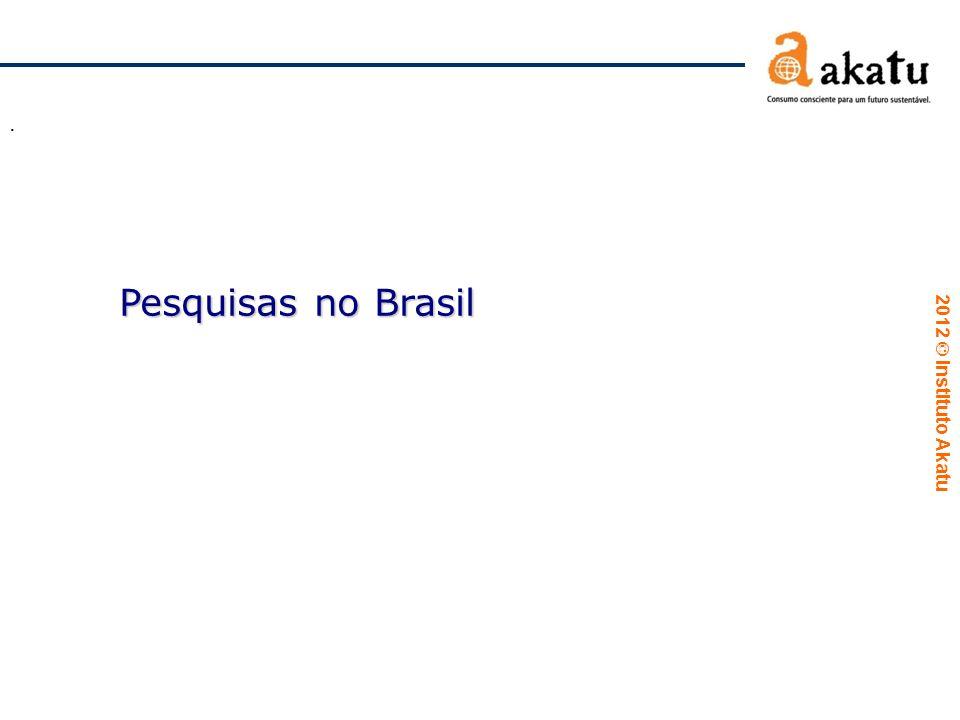 2012  Instituto Akatu. Pesquisas no Brasil