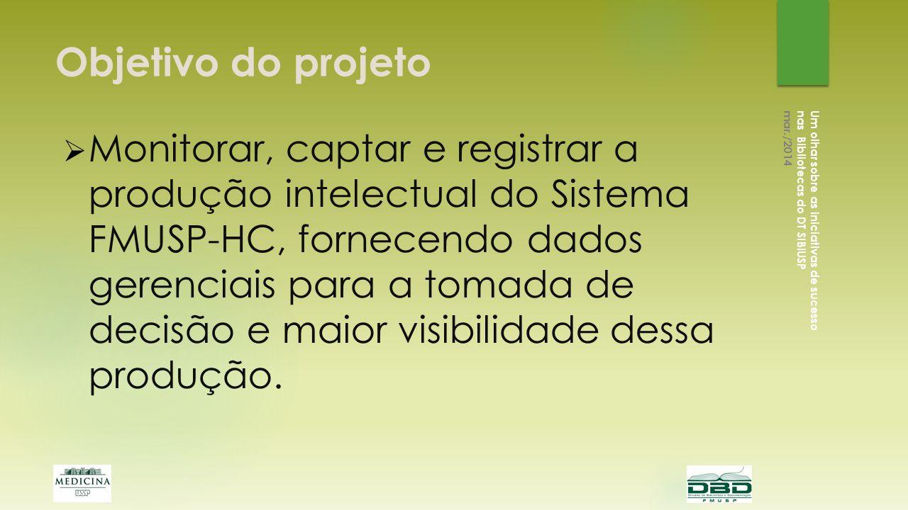 Desenvolvimento Um olhar sobre as iniciativas de sucesso nas Bibliotecas do DT SIBiUSP mar./2014 Início : jan.