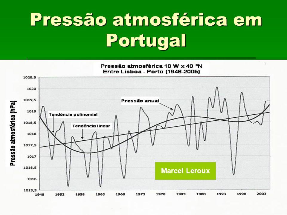 Pressão atmosférica em Portugal Marcel Leroux