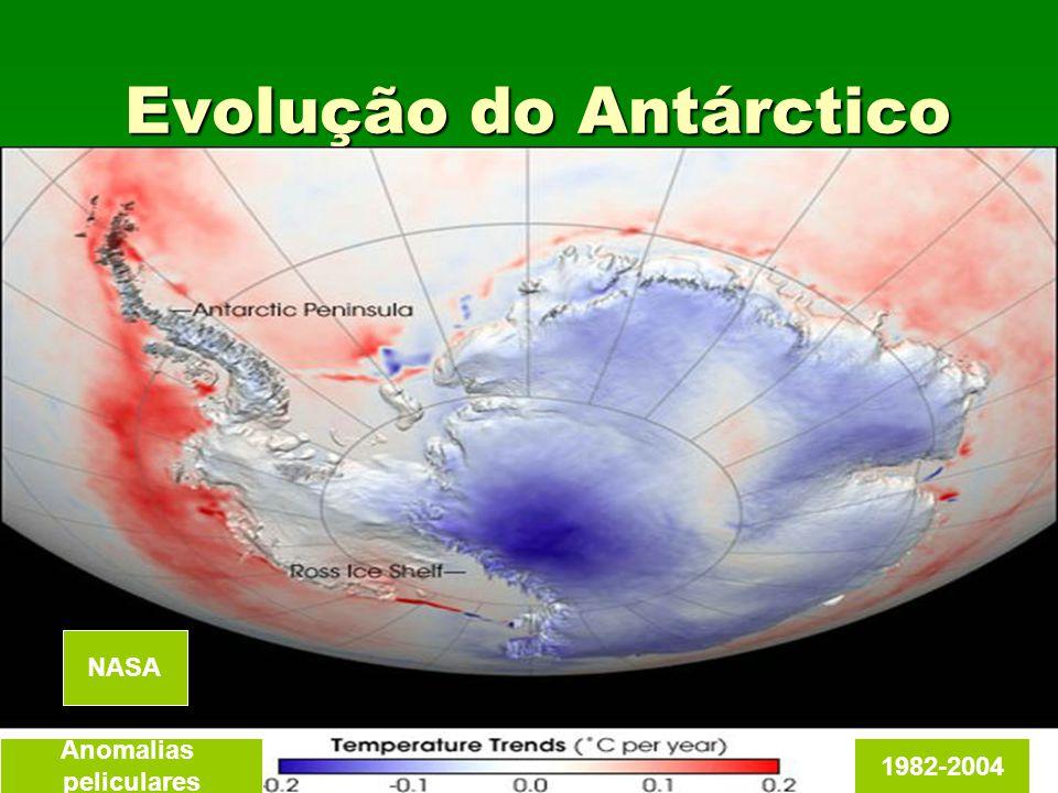 Evolução do Antárctico Anomalias peliculares 1982-2004 NASA