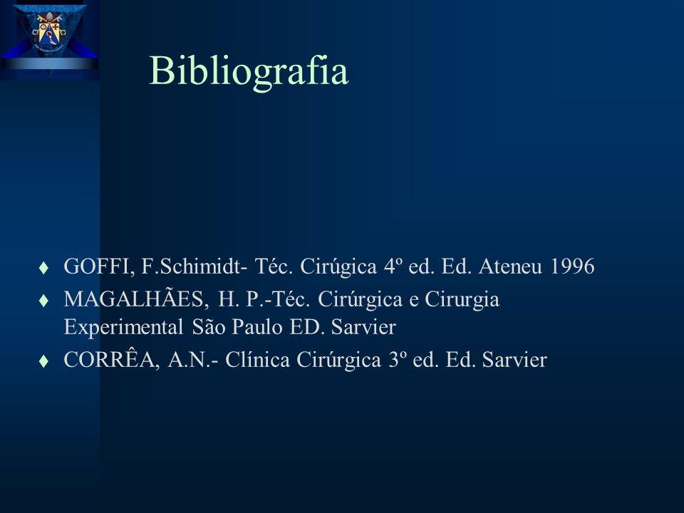 Bibliografia t GOFFI, F.Schimidt- Téc.Cirúgica 4º ed.