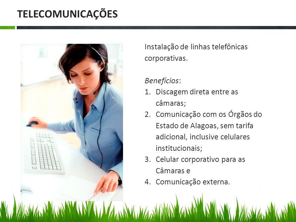 Instalação de linhas telefônicas corporativas.