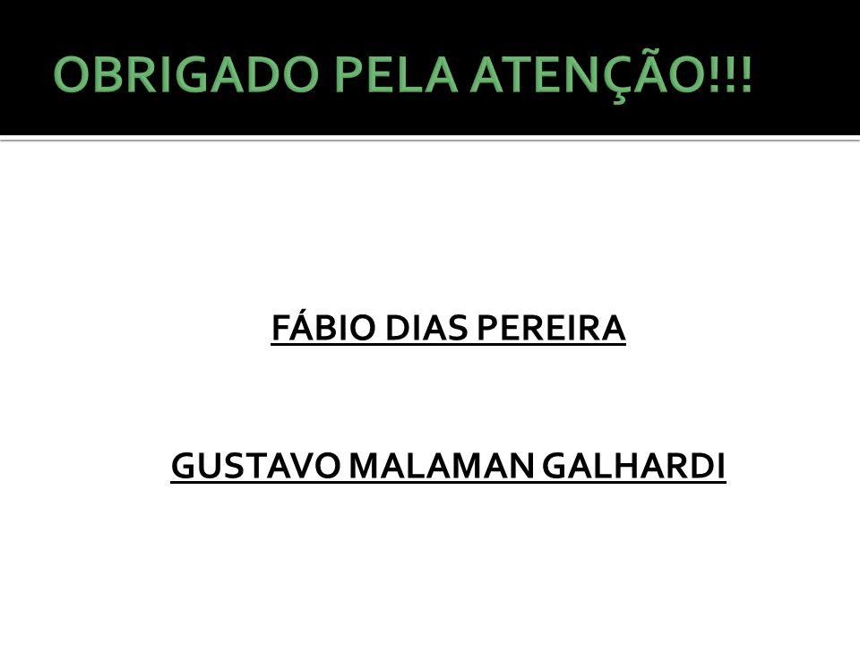 FÁBIO DIAS PEREIRA GUSTAVO MALAMAN GALHARDI