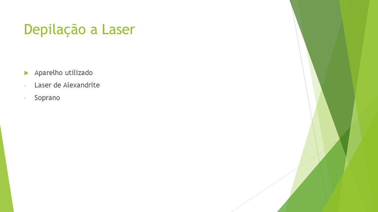 Depilação a Laser  Aparelho utilizado - Laser de Alexandrite - Soprano