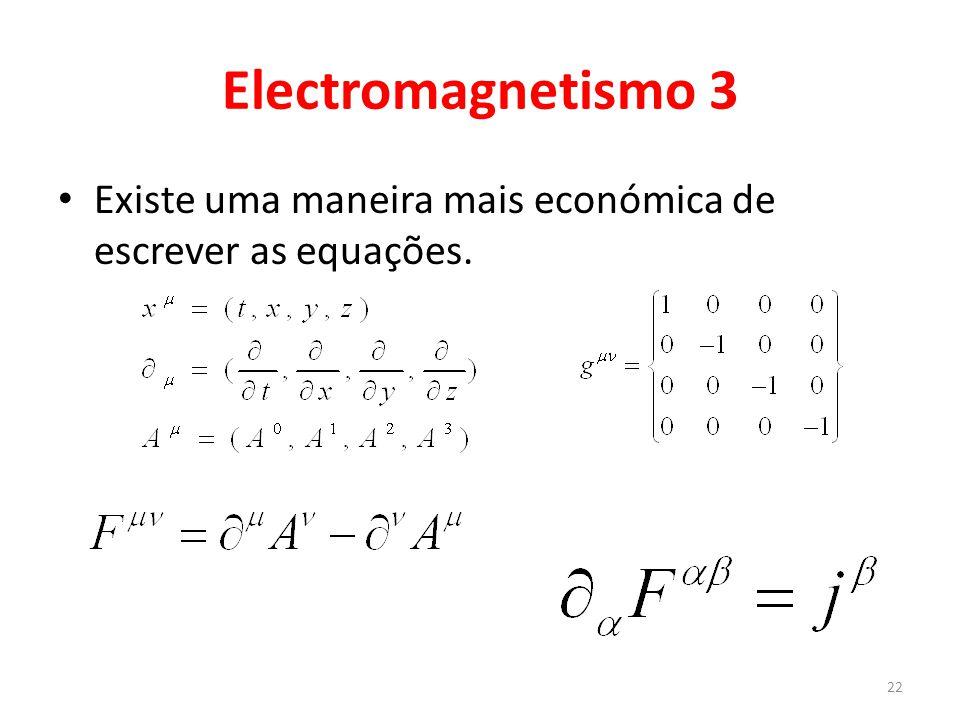 Electromagnetismo 4 Mas existe uma simetria que deixa o F invariante.
