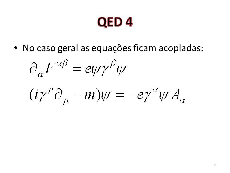 No caso geral as equações ficam acopladas: 30