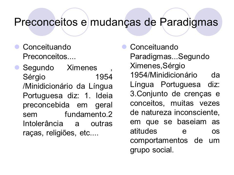 Conceituando Preconceitos.... Segundo Ximenes, Sérgio 1954 /Minidicionário da Língua Portuguesa diz: 1. Ideia preconcebida em geral sem fundamento.2 I
