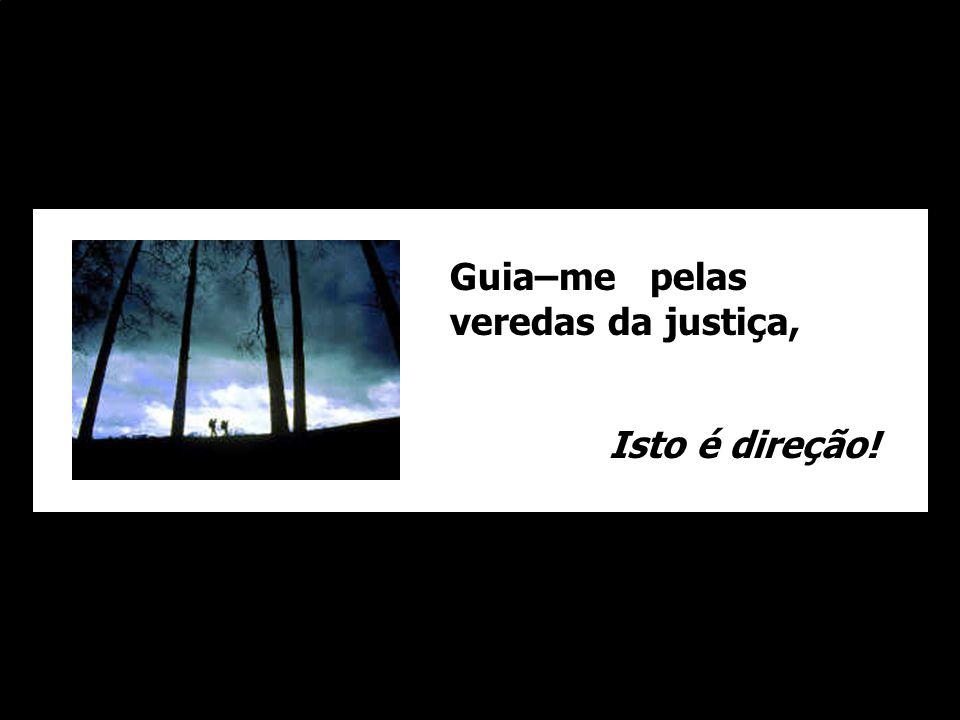 Guia–me pelas veredas da justiça, Isto é direção!