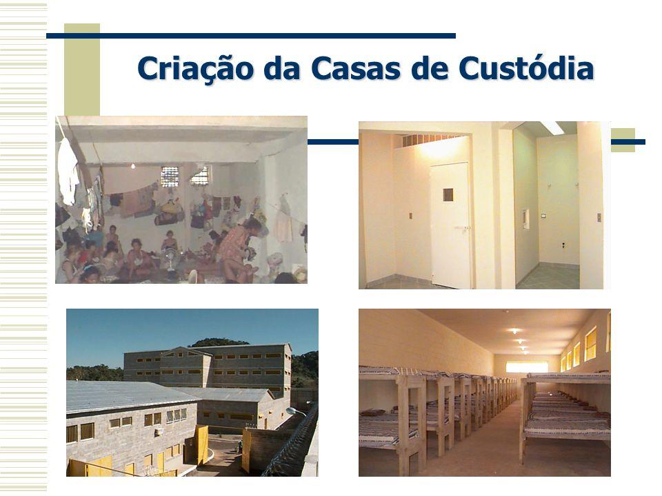 Criação da Casas de Custódia