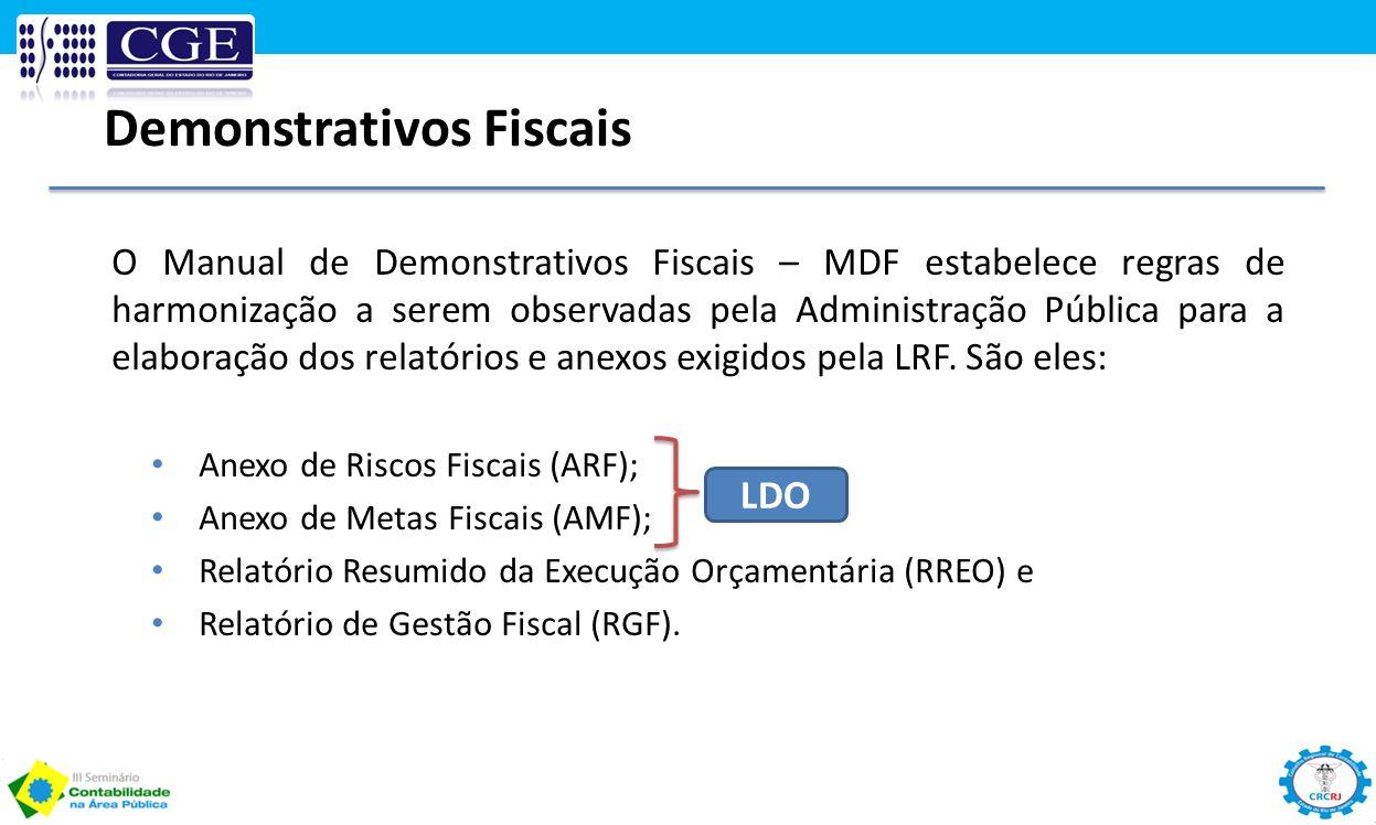 O Manual de Demonstrativos Fiscais – MDF estabelece regras de harmonização a serem observadas pela Administração Pública para a elaboração dos relatór