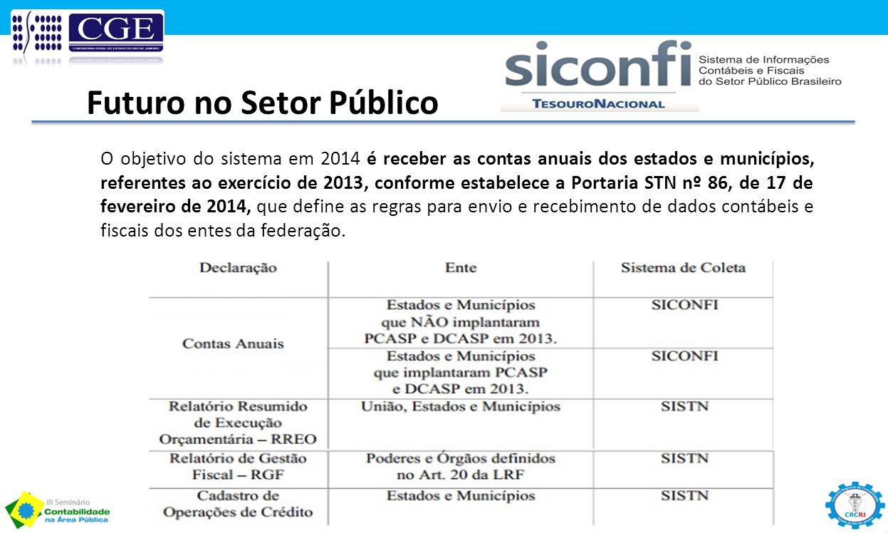 O objetivo do sistema em 2014 é receber as contas anuais dos estados e municípios, referentes ao exercício de 2013, conforme estabelece a Portaria STN