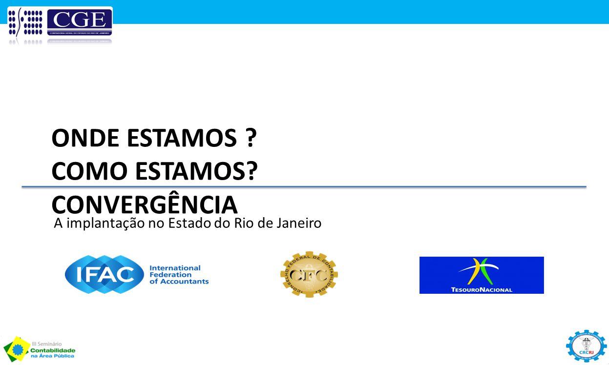 ONDE ESTAMOS ? COMO ESTAMOS? CONVERGÊNCIA A implantação no Estado do Rio de Janeiro