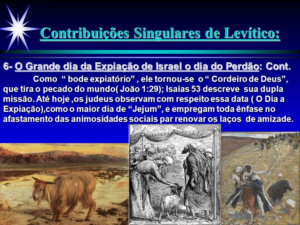 """Contribuições Singulares de Levítico: Como """" bode expiatório"""", ele tornou-se o """" Cordeiro de Deus"""", que tira o pecado do mundo( João 1:29); Isaías 53"""