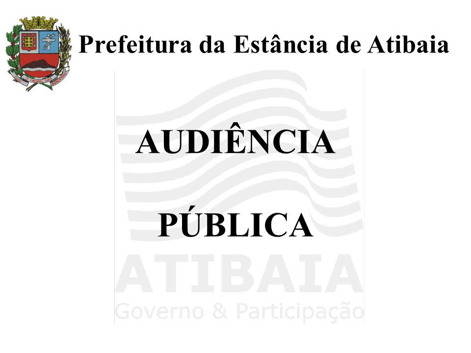 AUDIÊNCIA PÚBLICA Prefeitura da Estância de Atibaia