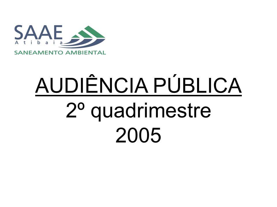 AUDIÊNCIA PÚBLICA 2º quadrimestre 2005