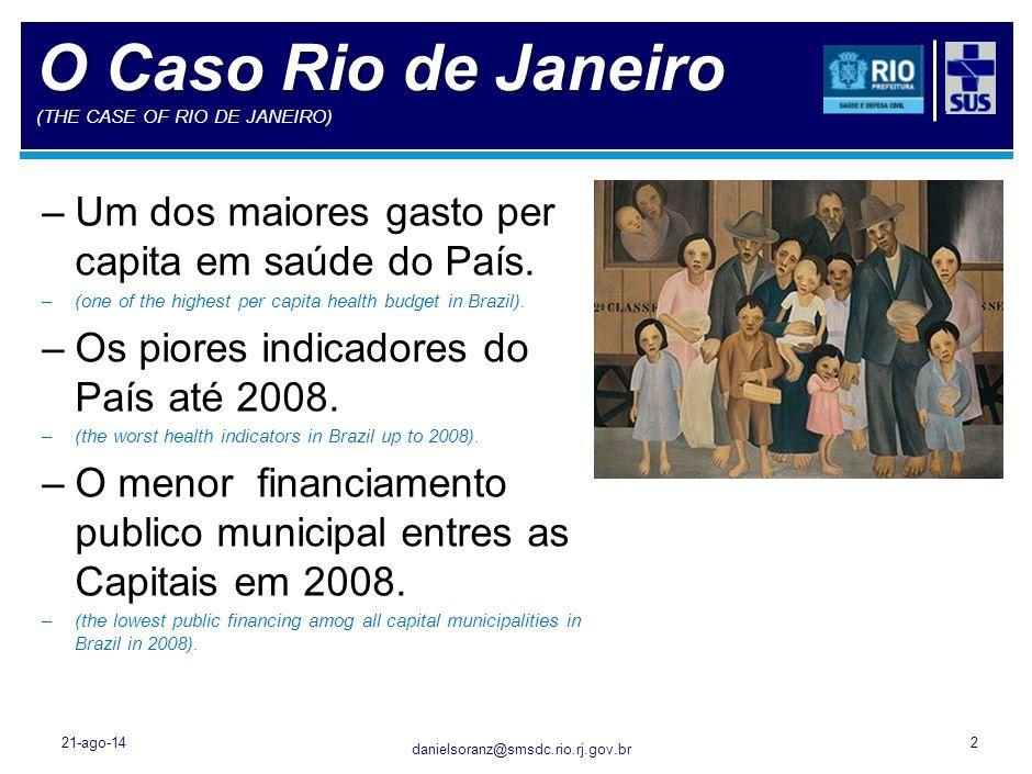 danielsoranz@smsdc.rio.rj.gov.br 21-ago-142 O Caso Rio de Janeiro O Caso Rio de Janeiro (THE CASE OF RIO DE JANEIRO) –Um dos maiores gasto per capita