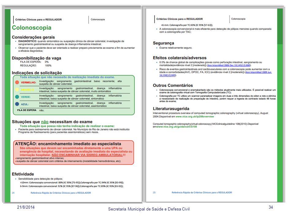 Secretaria Municipal de Saúde e Defesa Civil 21/8/201434