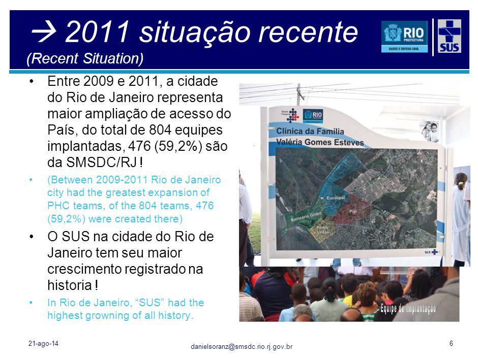 Secretaria Municipal de Saúde e Defesa Civil 21/8/201427