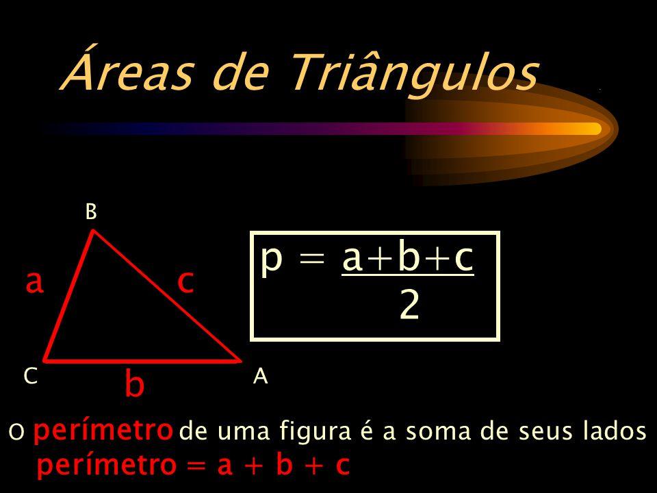Áreas de Triângulos.