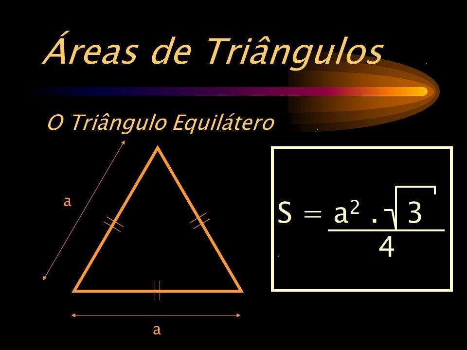 Áreas de Triângulos. O Triângulo Equilátero. a S = a 2. 3. 4 a