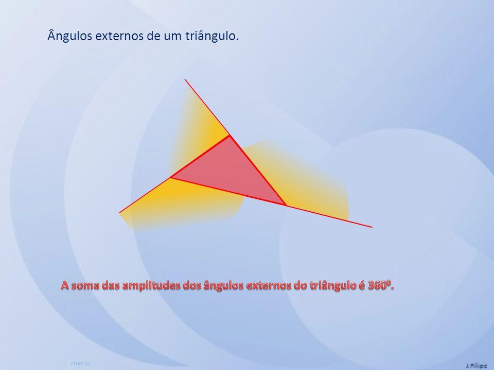 Ângulos externos de um triângulo. menu