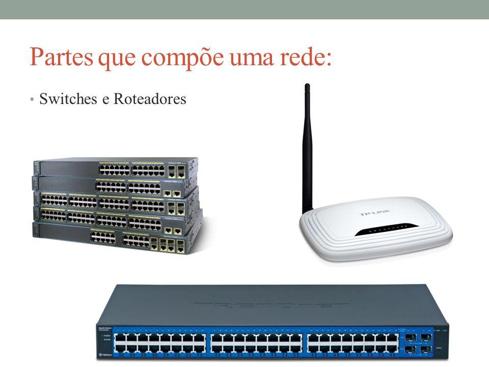 Partes que compõe uma rede: Switches e Roteadores