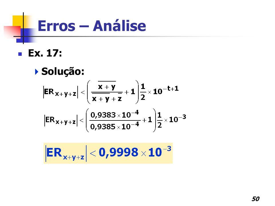 50 Erros – Análise Ex. 17:  Solução:
