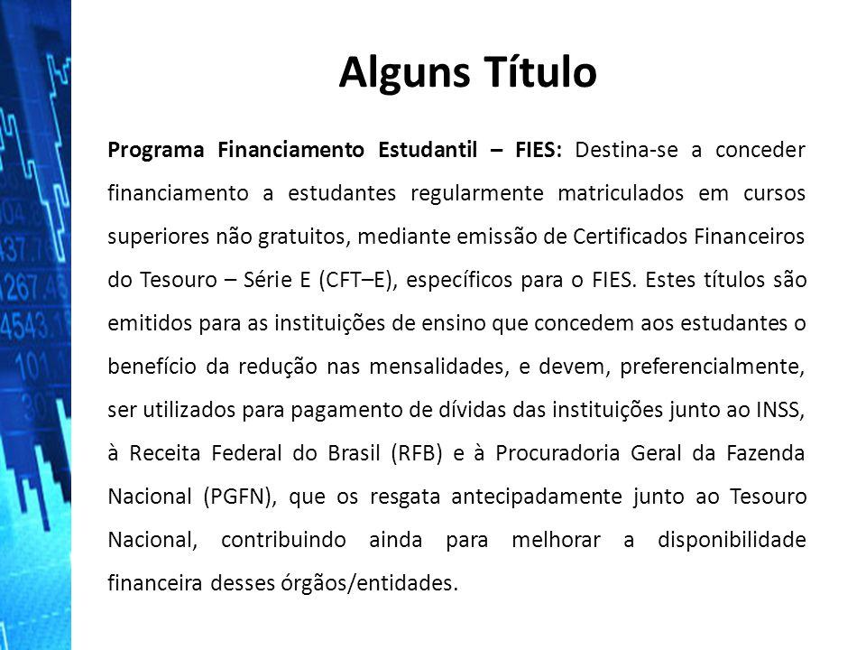 Programa Financiamento Estudantil – FIES: Destina‐se a conceder financiamento a estudantes regularmente matriculados em cursos superiores não gratuito