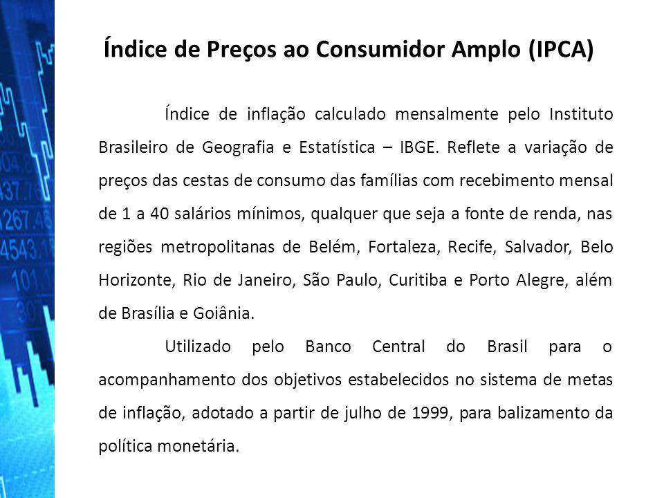 Índice de Preços ao Consumidor (IPC) IPC que é o Índice de Preços ao Consumidor e mede a variação de preços entre as famílias que percebem renda de 1 a 33 salários mínimos nas cidades de São Paulo e Rio de Janeiro.