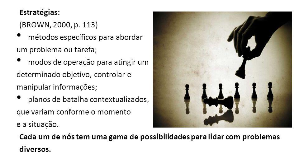 Estratégias: (BROWN, 2000, p.