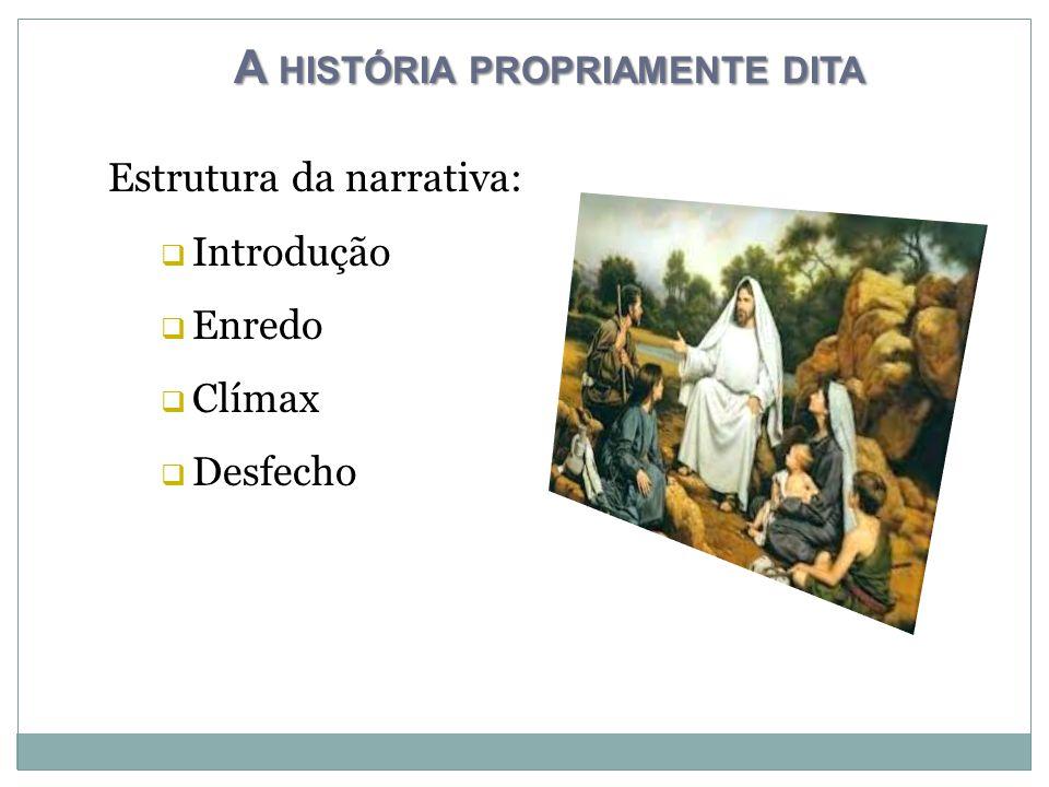 A HISTÓRIA PROPRIAMENTE DITA Estrutura da narrativa:  Introdução  Enredo  Clímax  Desfecho