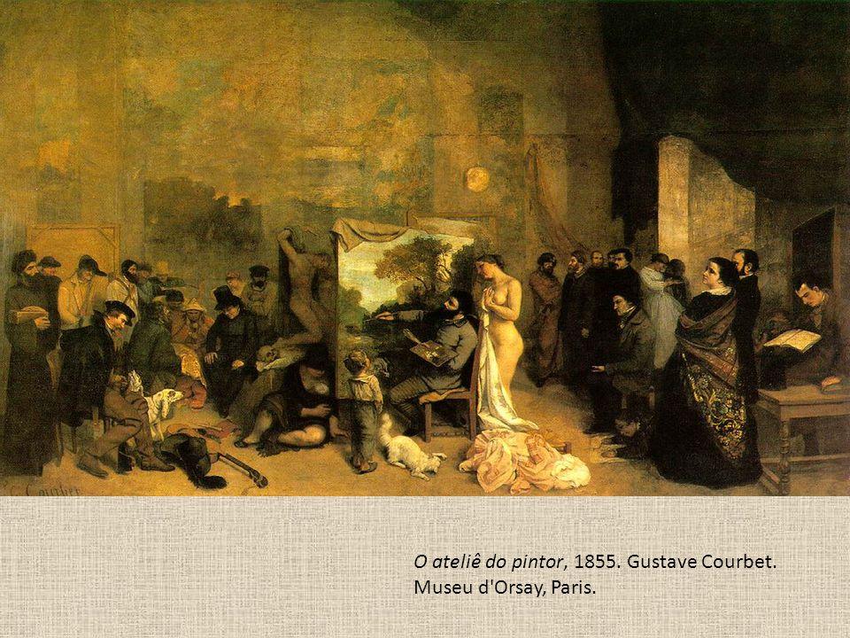 O ateliê do pintor, 1855. Gustave Courbet. Museu d'Orsay, Paris.