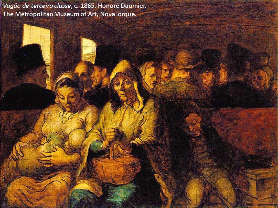 Vagão de terceira classe, c. 1865. Honoré Daumier. The Metropolitan Museum of Art, Nova Iorque.