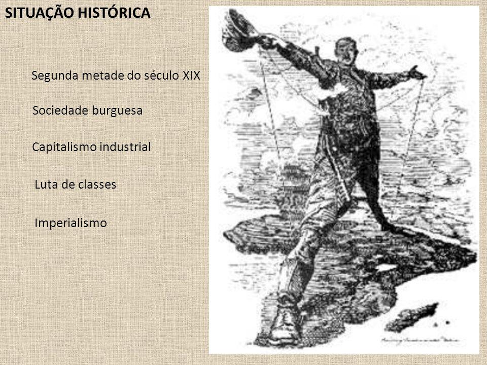 SITUAÇÃO HISTÓRICA Segunda metade do século XIX Sociedade burguesa Luta de classes Imperialismo Capitalismo industrial