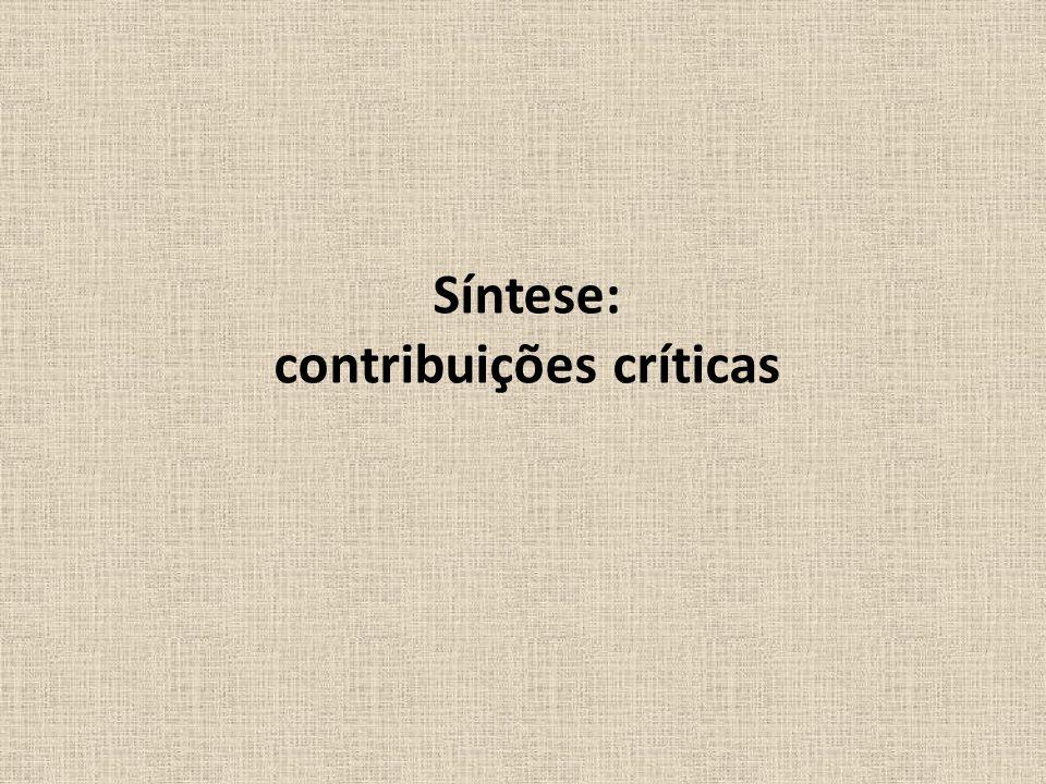 Síntese: contribuições críticas
