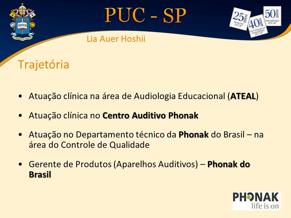 Trajetória ATEALAtuação clínica na área de Audiologia Educacional (ATEAL) Centro Auditivo PhonakAtuação clínica no Centro Auditivo Phonak PhonakAtuaçã