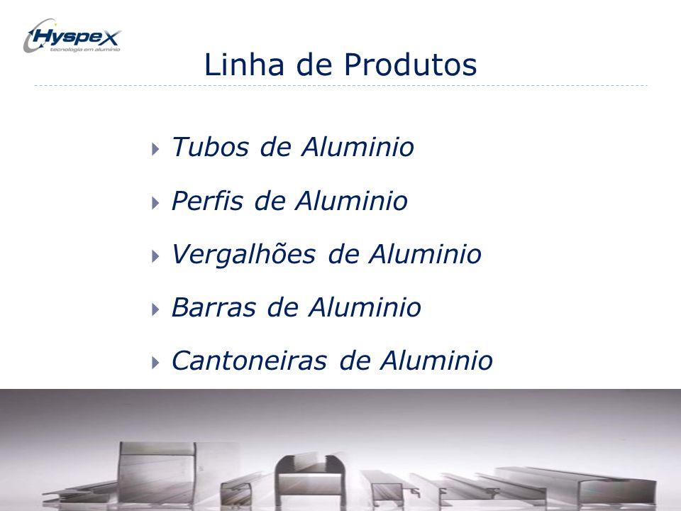 Linha de Produtos  Tubos de Aluminio  Perfis de Aluminio  Vergalhões de Aluminio  Barras de Aluminio  Cantoneiras de Aluminio