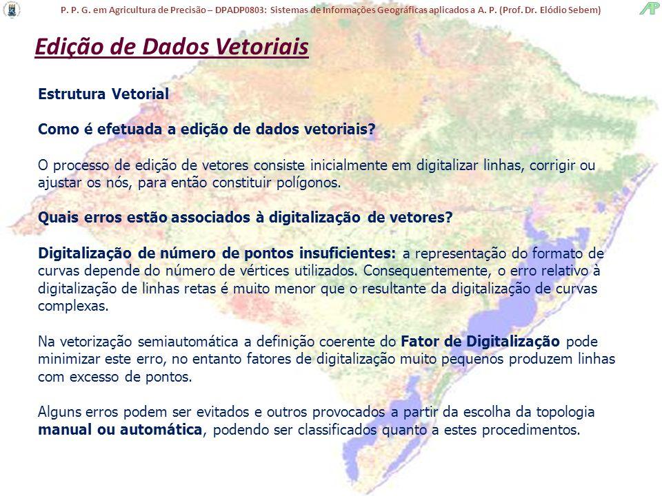 P. P. G. em Agricultura de Precisão – DPADP0803: Sistemas de Informações Geográficas aplicados a A. P. (Prof. Dr. Elódio Sebem) Estrutura Vetorial Com