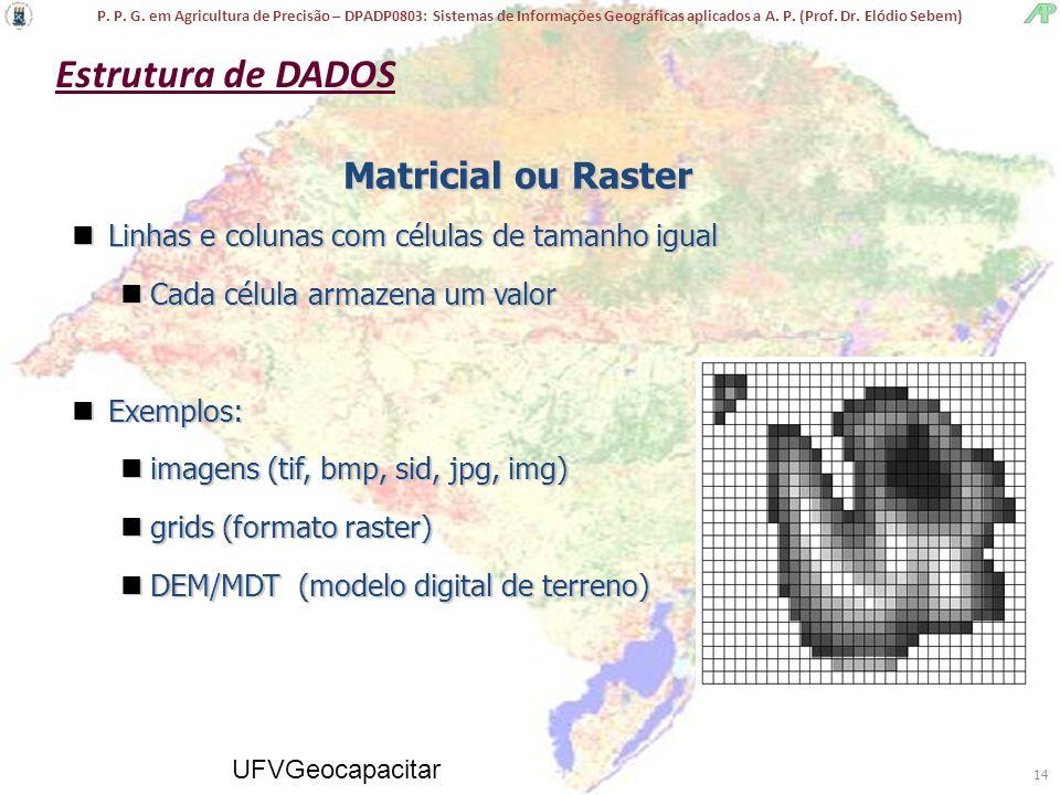 P. P. G. em Agricultura de Precisão – DPADP0803: Sistemas de Informações Geográficas aplicados a A. P. (Prof. Dr. Elódio Sebem) UFVGeocapacitar 14 nLi
