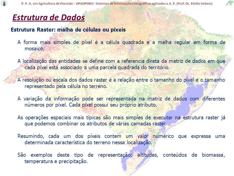 P. P. G. em Agricultura de Precisão – DPADP0803: Sistemas de Informações Geográficas aplicados a A. P. (Prof. Dr. Elódio Sebem) Estrutura de Dados Est
