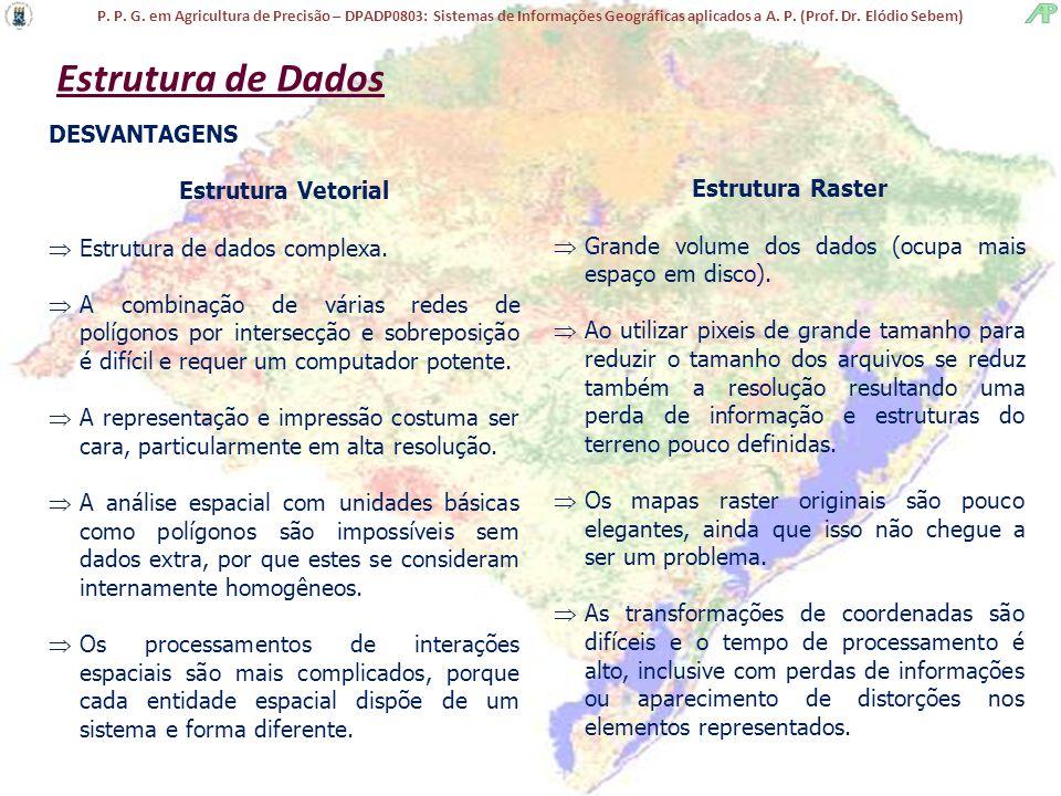 P. P. G. em Agricultura de Precisão – DPADP0803: Sistemas de Informações Geográficas aplicados a A. P. (Prof. Dr. Elódio Sebem) Estrutura de Dados DES