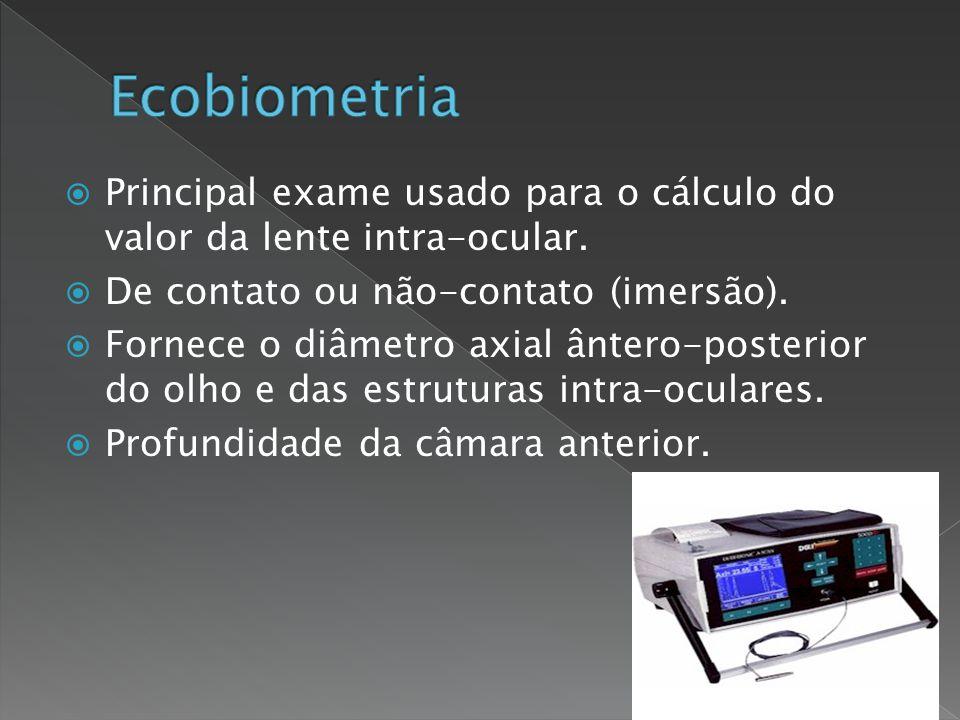  Perpedicularidade das superfícies intra- oculares.