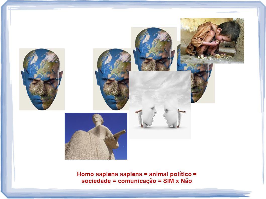 Homo sapiens sapiens = animal político = sociedade = comunicação = SIM x Não